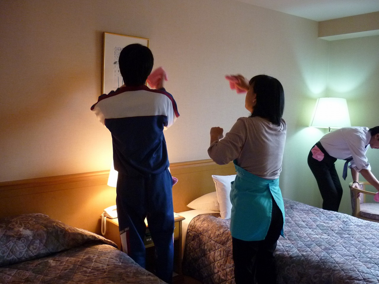 ホテルの清掃指導写真1